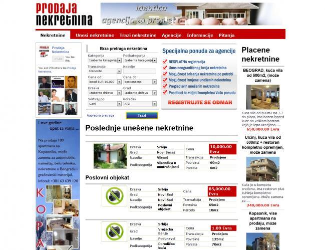 web dizajn ProdajaNekretnina.rs