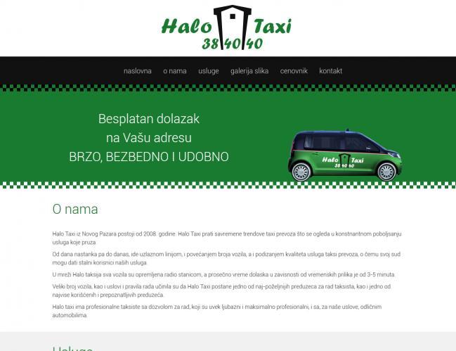 web dizajn Halo Taxi
