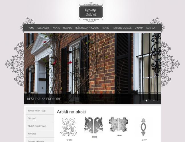 web dizajn Kovane ograde