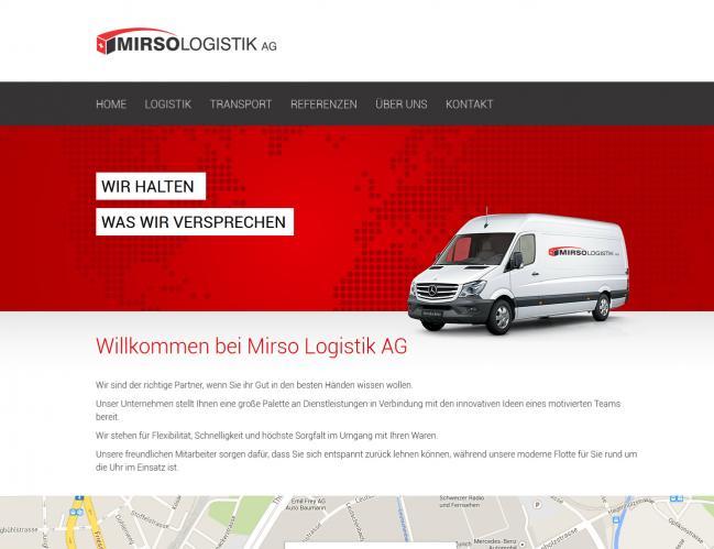 web dizajn Mirso Logistik AG
