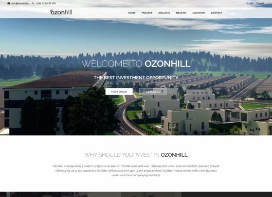 OzonHill Web sajt, Web portali,