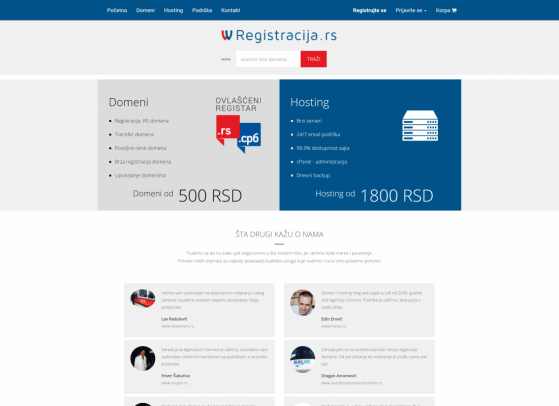 Registracija.rs Web sajt,