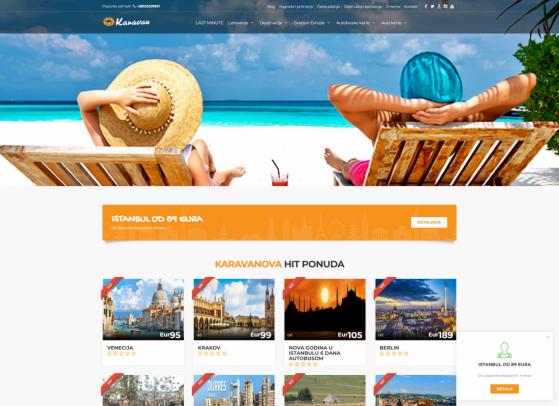 Turistička agencija Karavan Web sajt,